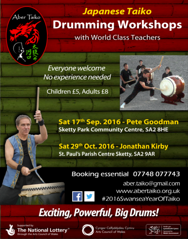 AberTaiko Workshops Sep-Oct-2016