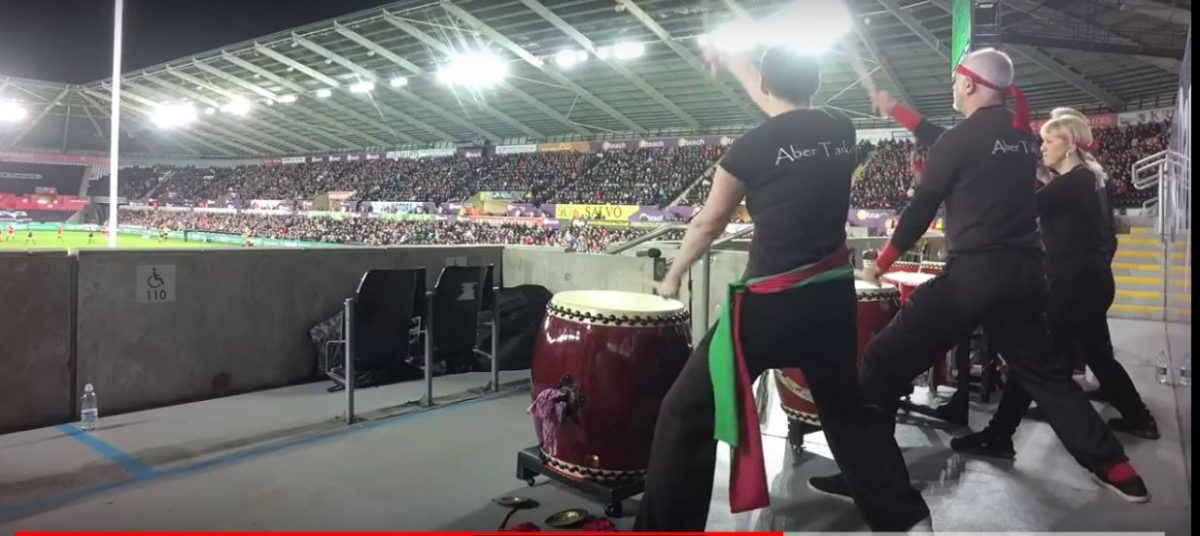 Taiko at the Ospreys vs Scarlets Derby